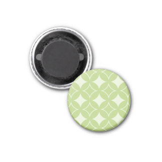 Olive green shippo pattern 3 cm round magnet