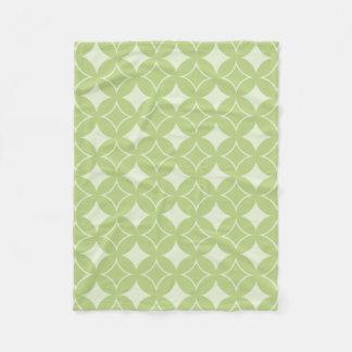 Olive green shippo pattern fleece blanket
