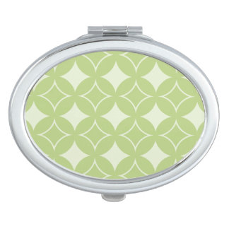 Olive green shippo pattern makeup mirrors