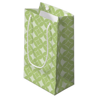 Olive green shippo pattern small gift bag