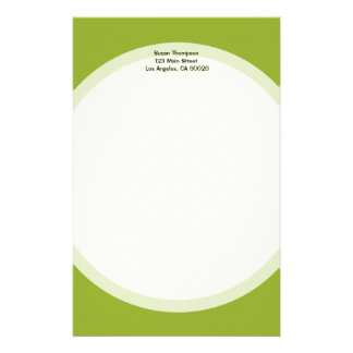 Olive green customized stationery