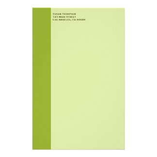 Olive green stationery