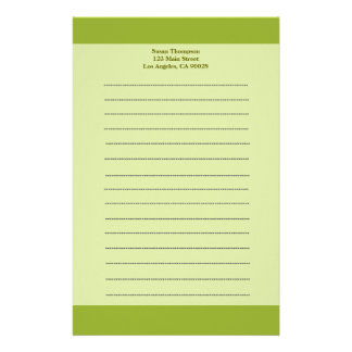 Olive green stationery paper