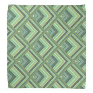 Olive green stripes scale pattern bandana