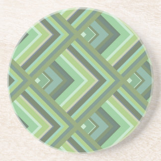 Olive green stripes scale pattern coaster