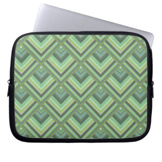 Olive green stripes scale pattern laptop sleeve