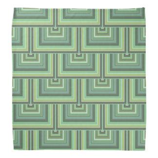 Olive green stripes square scales pattern bandana
