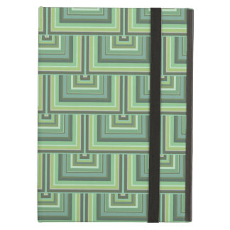 Olive green stripes square scales pattern iPad air cover