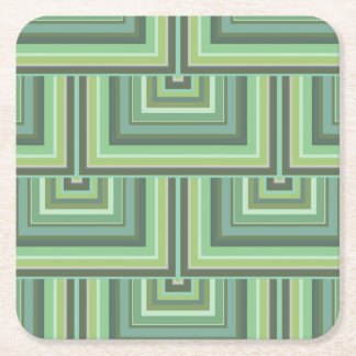 Olive green stripes square scales pattern square paper coaster