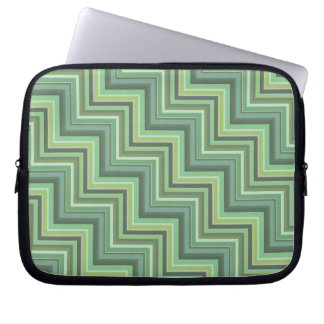 Olive green stripes stairs pattern laptop sleeve
