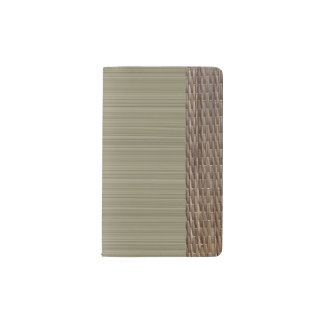Olive green stripes tatami print zen pocket moleskine notebook
