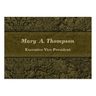 Olive Green Stucco Texture Large Business Cards (Pack Of 100)