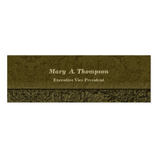 Olive Green Stucco Texture Pack Of Skinny Business Cards