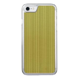 Olive Green Vertical Stripes Pattern Carved iPhone 7 Case