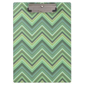Olive green zigzag stripes clipboard