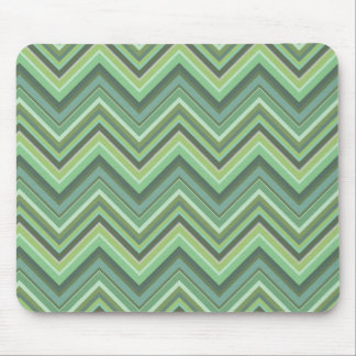 Olive green zigzag stripes mouse pad