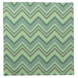 Olive green zigzag stripes napkin