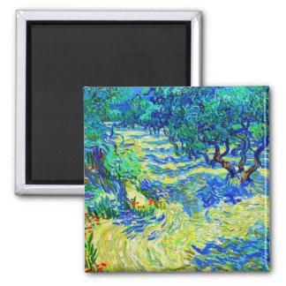 Olive Grove by Vincent Van Gogh Magnet