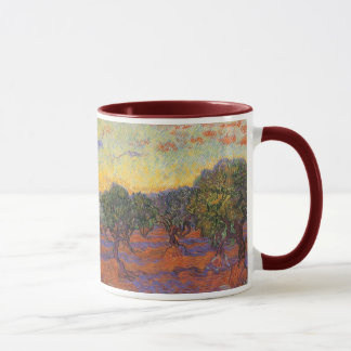 Olive Grove, Orange Sky by Vincent van Gogh Mug