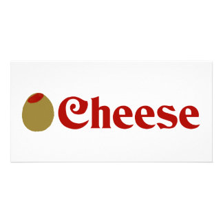 Olive I Love Cheese Photo Card