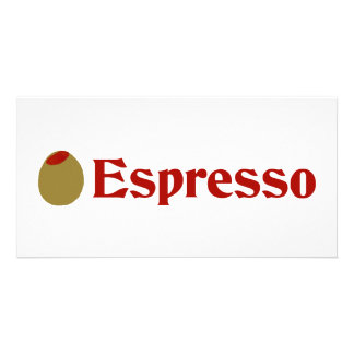 Olive I Love Espresso Photo Cards