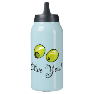 Olive Insulated Water Bottle