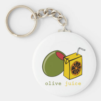 Olive Juice Basic Round Button Key Ring