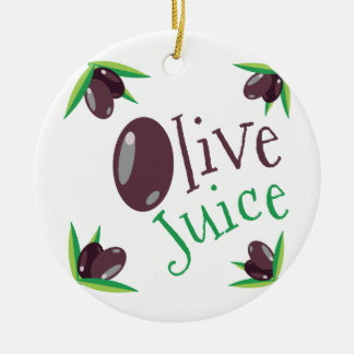 Olive Juice Ceramic Ornament