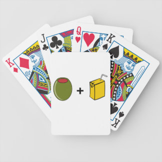Olive Juice I Love You Bicycle Playing Cards