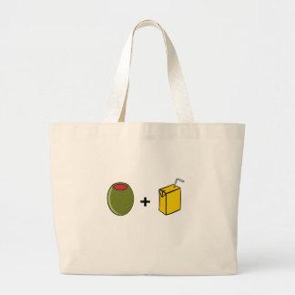 Olive Juice I Love You Large Tote Bag