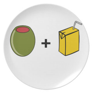 Olive Juice I Love You Plate