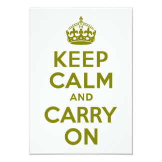 Olive Keep Calm and Carry On Card