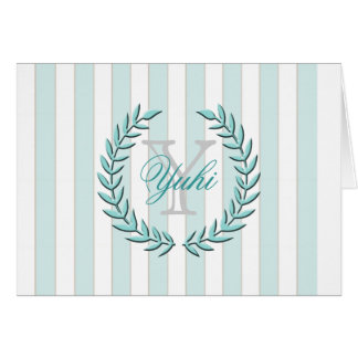 Olive Leaf A7 Greeting Card (Mint)
