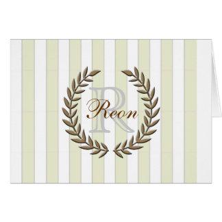 Olive Leaf A7 Greeting Card (Mocha)