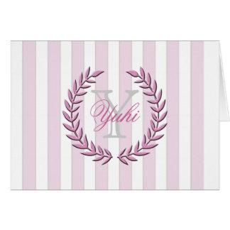 Olive Leaf A7 Greeting Card (Pink)