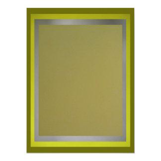 "Olive-Lime-Silver Multipurpose Card 6.5"" X 8.75"" Invitation Card"