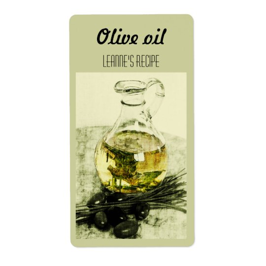 Olive oil and chives label