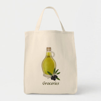 Olive Oil Bottle Grocery Tote Bag