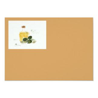 Olive oil invitation card