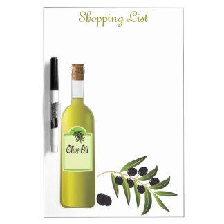 Olive Oil Kitchen Shopping List Dry Erase Board