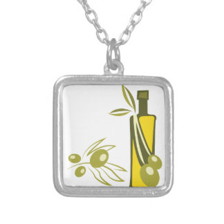 Olive Oil Silver Plated Necklace