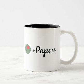 Olive Papou Two-Tone Coffee Mug