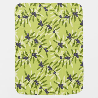 Olive Pattern Baby Blanket