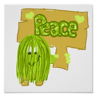 Olive Peace Word Poster