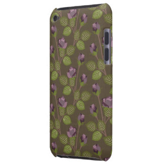 Olive Pretty Purple Flowers Case iPod Touch