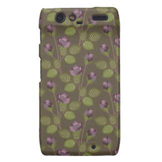 Olive Pretty Purple Flowers Motorola Droid RAZR Droid RAZR Covers