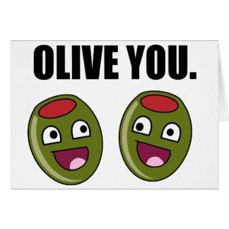 OLIVE PUN GREETING CARD