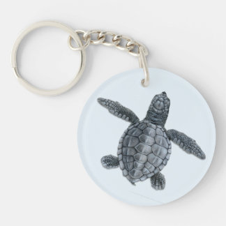 Olive Ridley Sea Turtle Hatchling Keychain