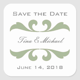 Olive Save The Date Stickers and Seals