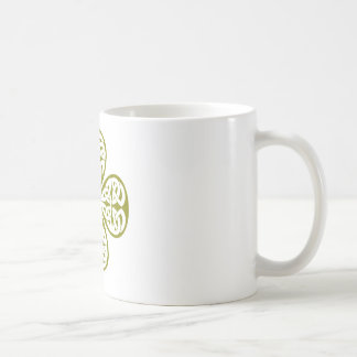 olive shamrock celtic knot mug